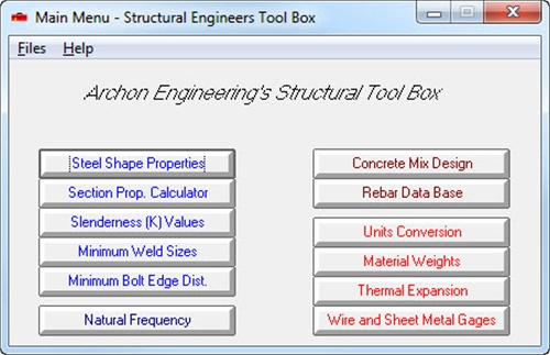 Structural Tool Box (STB)