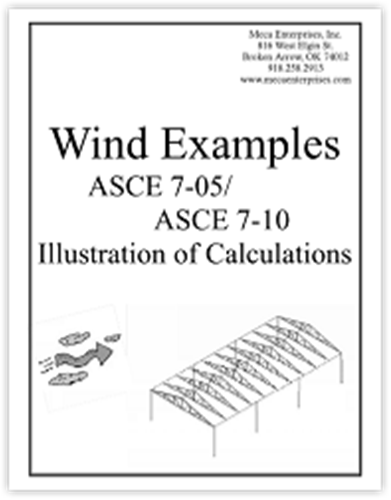 Wind Examples e-book (ASCE 7-10 & 7-05)